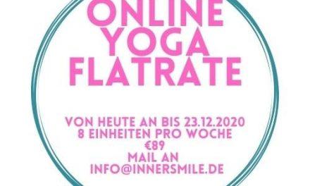 Online Yoga Flatrate bis zum 23.Dezember 2020